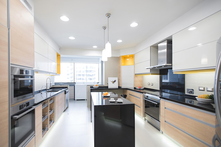 Duo Arquitectura y Diseño Kitchen Granite Yellow