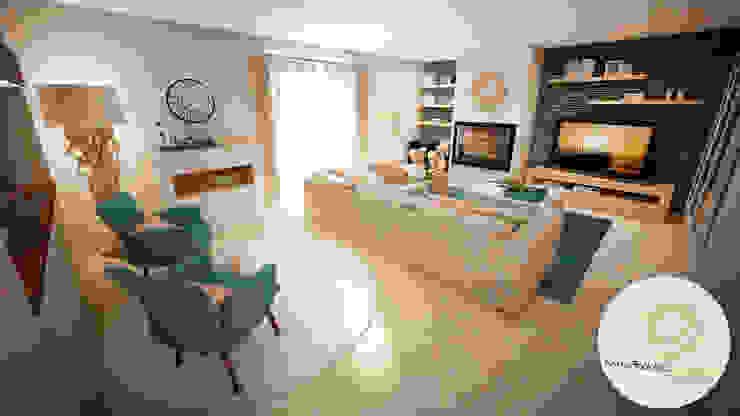 Projecto - Salas, Balcão e Entrada Andreia Louraço - Designer de Interiores (Email: andreialouraco@gmail.com) Salas de estar modernas Bege