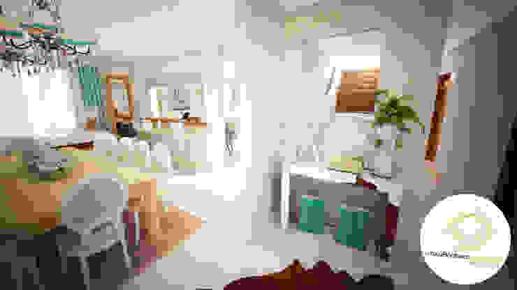 Projecto - Salas, Balcão e Entrada Corredores, halls e escadas modernos por Andreia Louraço - Designer de Interiores (Contacto: atelier.andreialouraco@gmail.com) Moderno