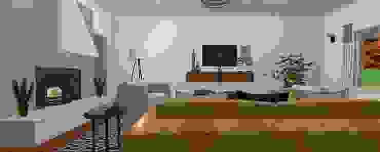Sala de estar ecléctica de SilviaKarounos Decor Studio
