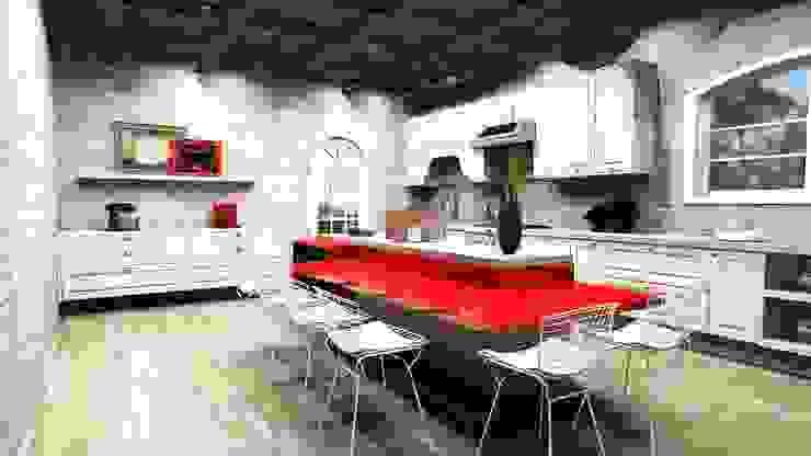 Cozinhas campestres por MV Arquitetura e Design Campestre Tijolo