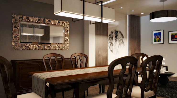 BESSIE Kuro Design Studio Asian style dining room