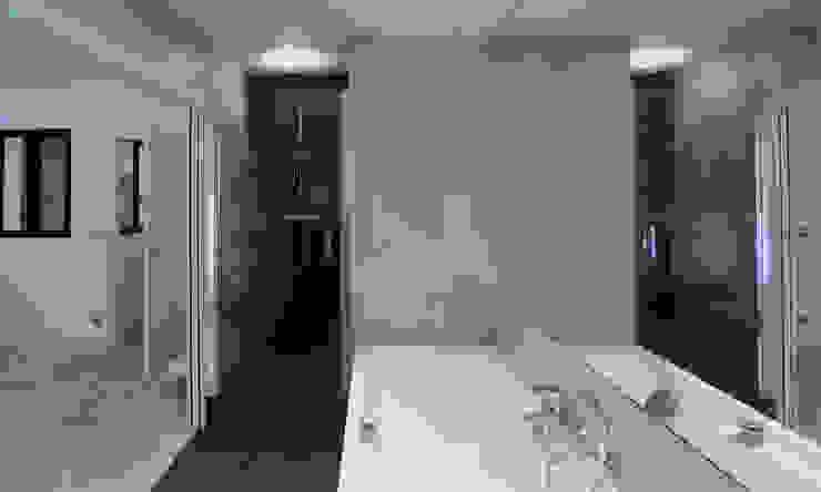 Salle de bain moderne Xavier Lemoine Architecture d'Intérieur Salle de bain moderne Céramique
