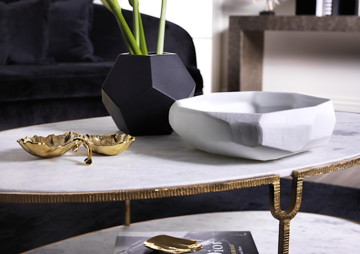 SS16 Style Guide - Refined Monochrome Collection - Living Room coffee table: modern  by LuxDeco, Modern