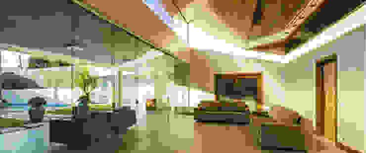 BRAVIM ◘ RICCI ARQUITETURA Salones de estilo moderno