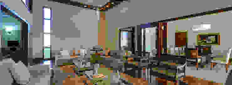Salas de estar modernas por BRAVIM ◘ RICCI ARQUITETURA Moderno