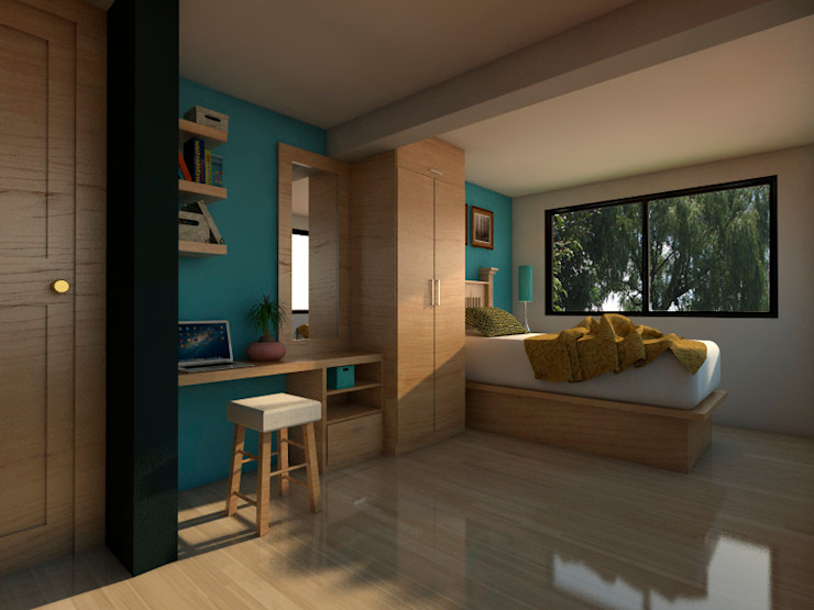 Modern style bedroom by Arqternativa Modern Engineered Wood Transparent