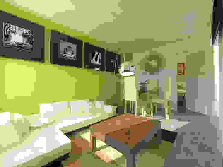 现代客厅設計點子、靈感 & 圖片 根據 Arqternativa 現代風 強化水泥
