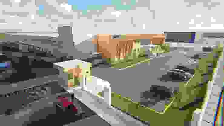 Seemann SA. de CV. Fachada Casas industriales de FyA Arquitectos Industrial
