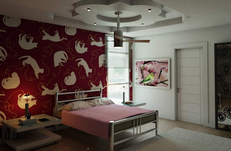 FyA Arquitectos Modern nursery/kids room Red