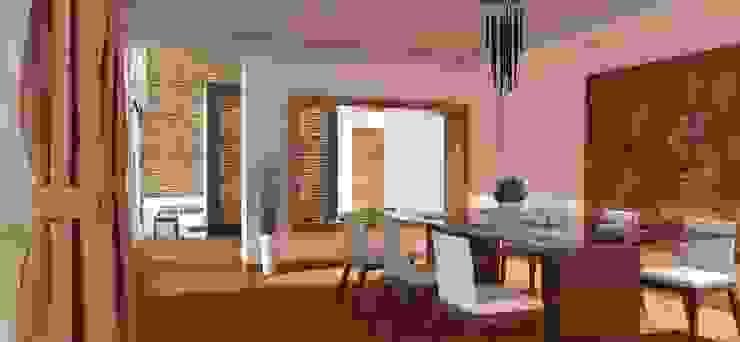 FyA Arquitectos Modern dining room Wood Brown