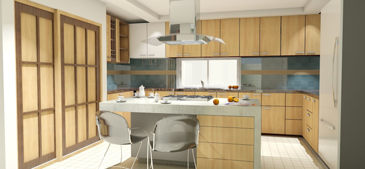 Modern Kitchen by FyA Arquitectos Modern Concrete