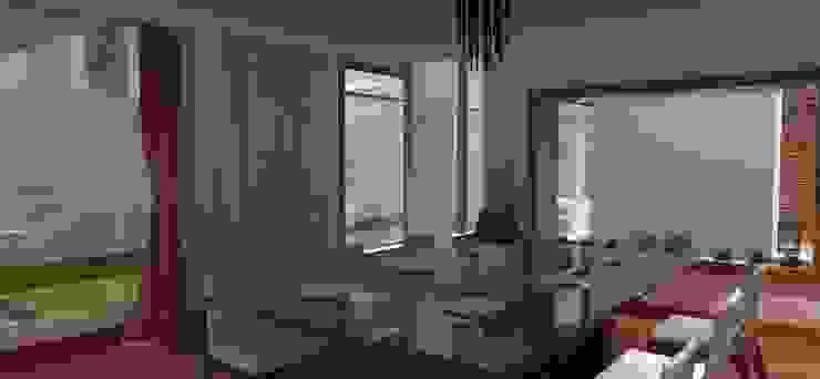 FyA Arquitectos Modern dining room Wood effect