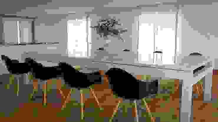 Prueba de Comedor Principal 2 FyA Arquitectos Comedores modernos Vidrio Transparente