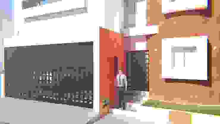Fachada Casa Sr. Rubén. FyA Arquitectos Casas modernas