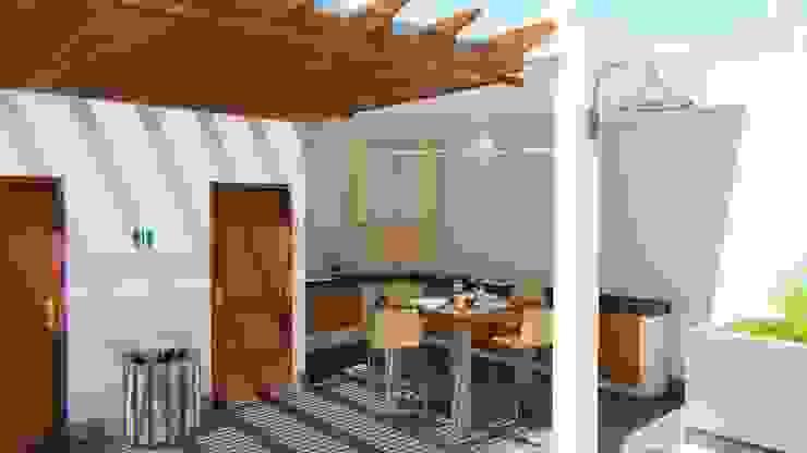 Palapa Bar; Casa Sr. Ruben FyA Arquitectos Comedores modernos