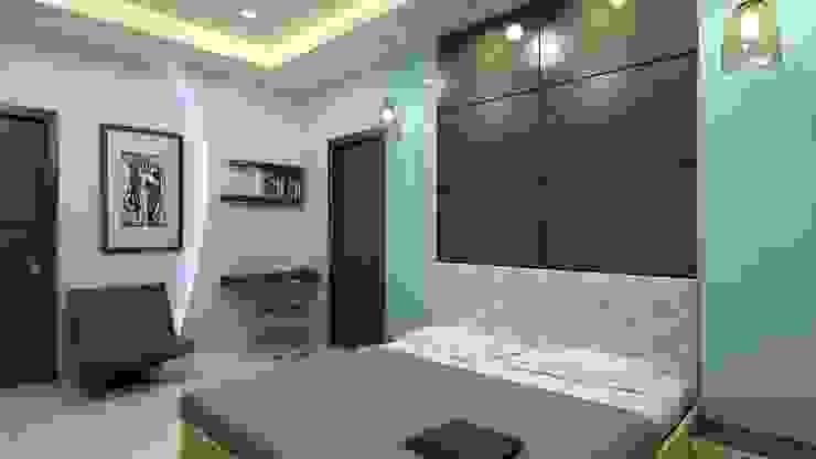 Chambre asiatique par Shadab Anwari & Associates. Asiatique