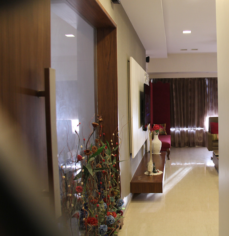 Elevate Lifestyles Minimalist corridor, hallway & stairs