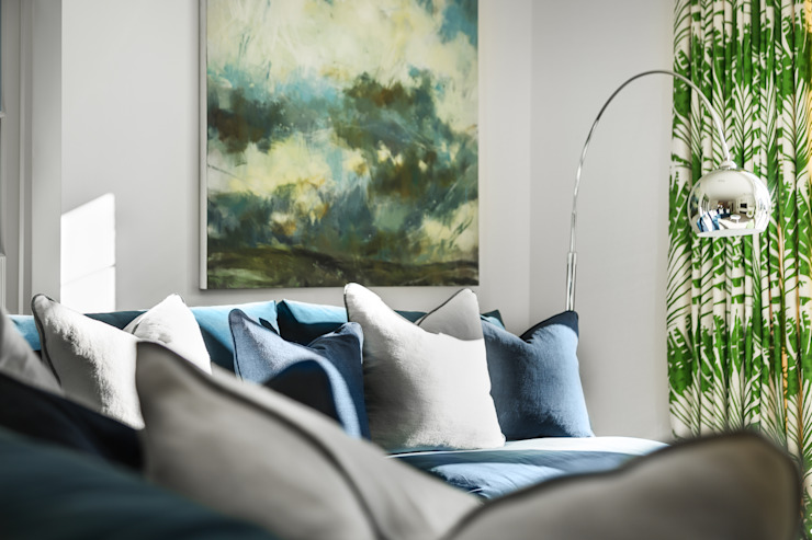 Kitchen/ Family/ Breakfast Room Studio Hooton Modern living room