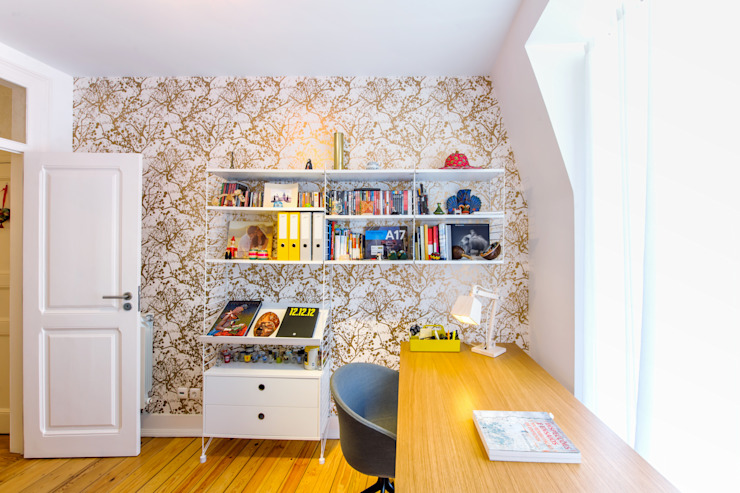 Eclectic style study/office by Espaço Mínimo Eclectic