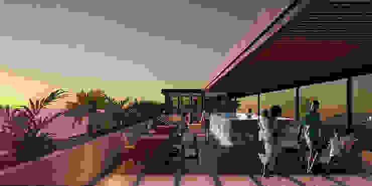 Departamentos Punta Caracol - A.flo Arquitectos Balcones y terrazas modernos de A.flo Arquitectos Moderno Concreto