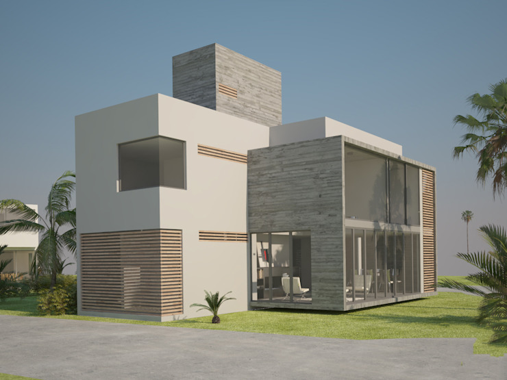 Lts Punta Caracol - A.flo Arquitectos Balcones y terrazas modernos de A.flo Arquitectos Moderno Concreto