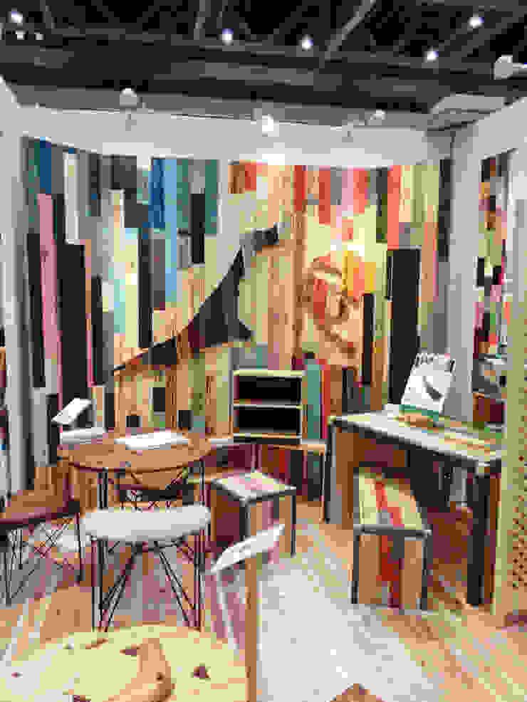 株式会社シオン Ruang Studi/Kantor Gaya Industrial Parket Wood effect