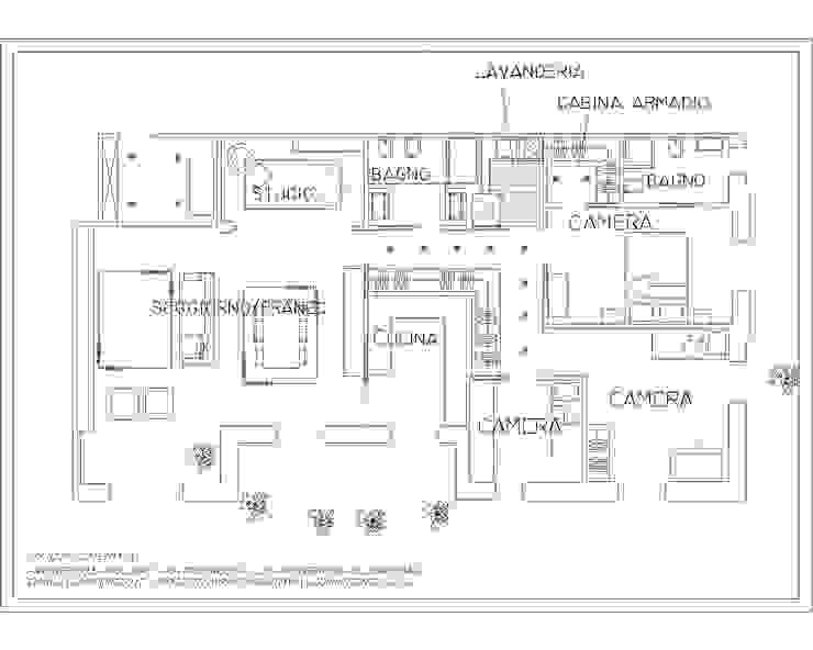 现代客厅設計點子、靈感 & 圖片 根據 ARCHITETTO LAURA LISBO 現代風