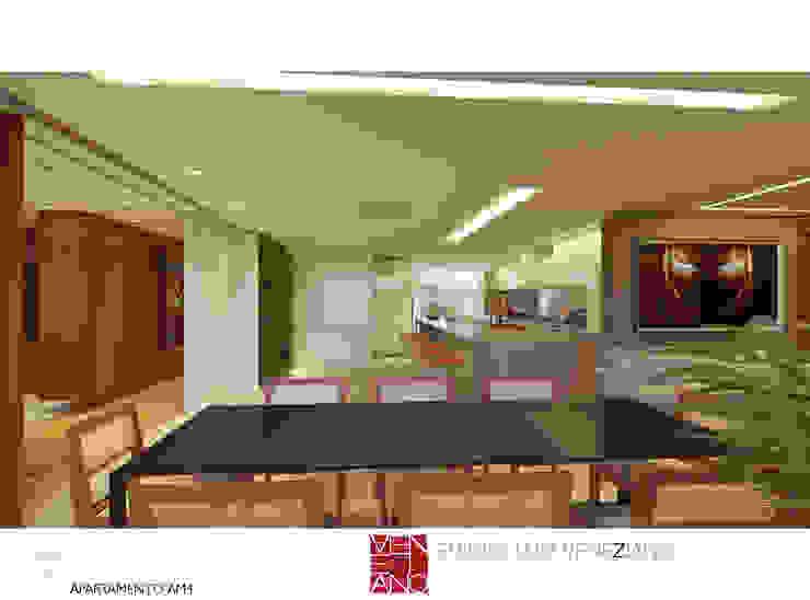 Balcones y terrazas de estilo moderno de STUDIO LUIZ VENEZIANO Moderno