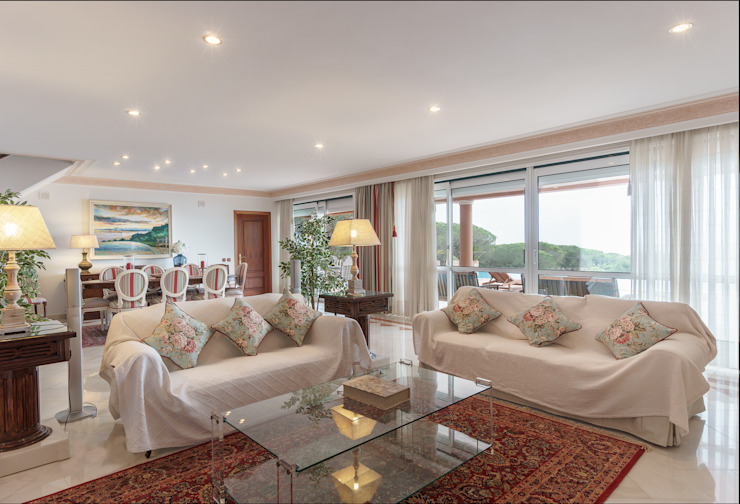 Monte da Bela Vista Salas de estar rústicas por Zenaida Lima Fotografia Rústico