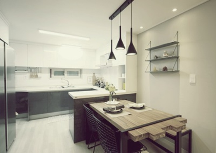 일산 홈스타일링 (Ilsan homestyling) Modern dining room by homelatte Modern