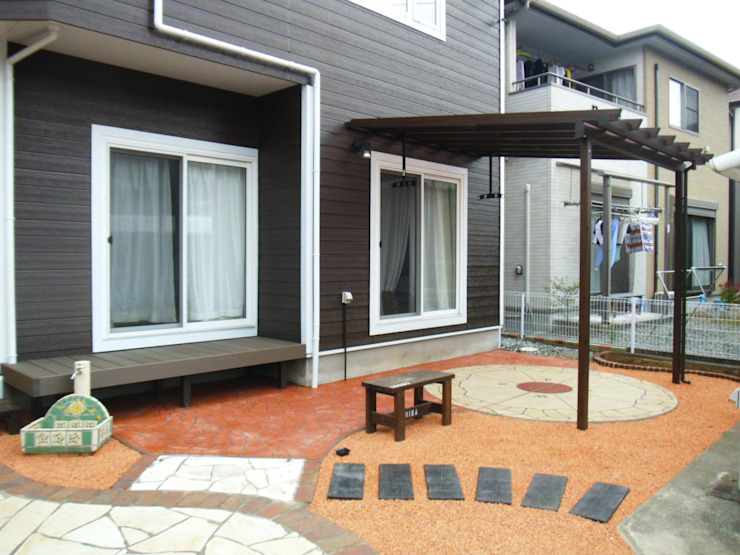 お庭 Balcon, Veranda & Terrasse modernes par 有限会社 伊豆植物園 Moderne