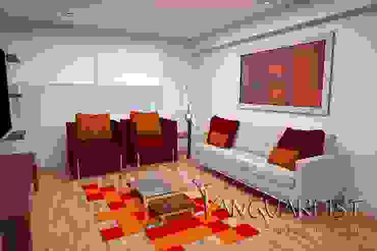 Diseño de Departamento San Borja Salas modernas de Vanguardist Design Studio Moderno