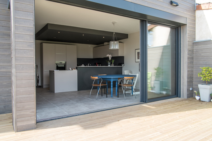Maison à Limoges 2016 Fenêtres & Portes modernes par Jean-Paul Magy architecte d'intérieur Moderne Aluminium/Zinc