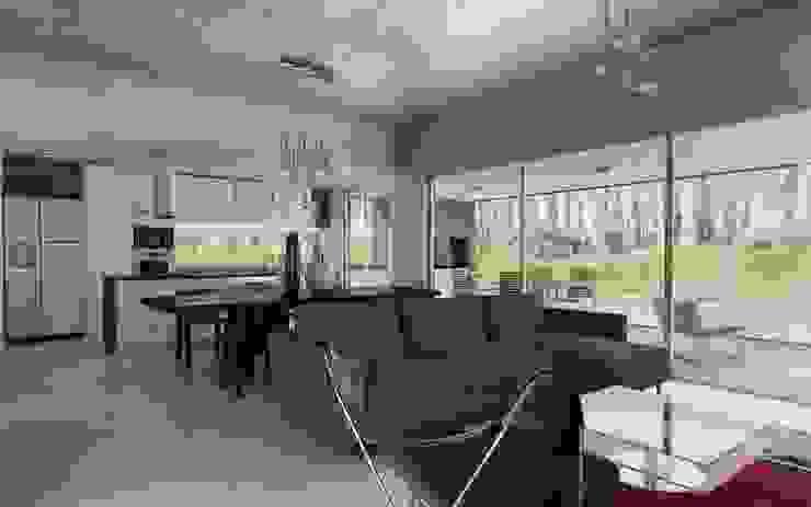 Chazarreta-Tohus-Almendra 现代客厅設計點子、靈感 & 圖片
