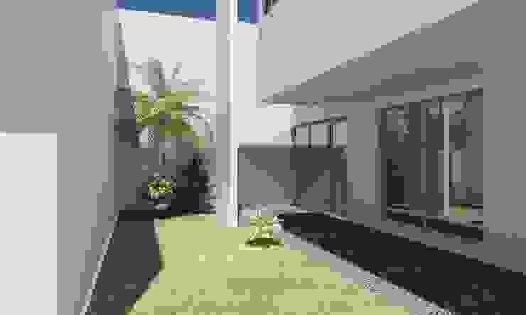 Сад в стиле минимализм от JAPAZ arquitectura arte diseño Минимализм Кирпичи