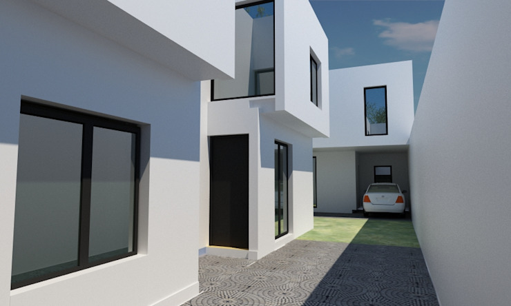 Minimalist house by JAPAZ arquitectura arte diseño Minimalist Bricks