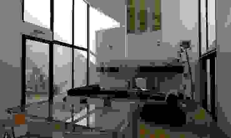 Гостиная в стиле минимализм от JAPAZ arquitectura arte diseño Минимализм Дерево Эффект древесины