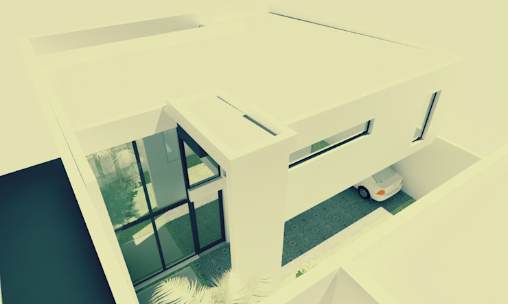 Rumah Minimalis Oleh JAPAZ arquitectura arte diseño Minimalis Batu Bata
