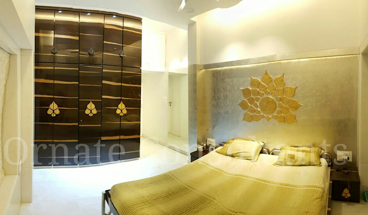 Master bedroom Ornate Projects Modern style bedroom Silver/Gold Metallic/Silver