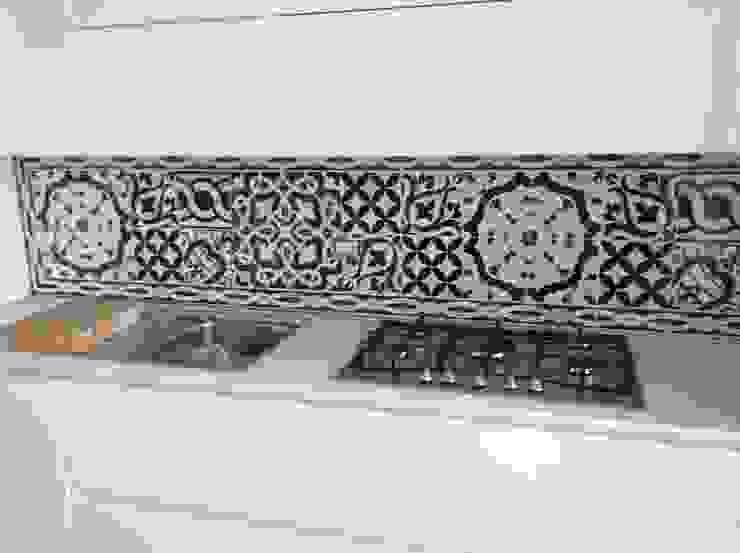 Case Private CEAR Ceramiche Azzaro & Romano Srl Cucina moderna Ceramica Verde