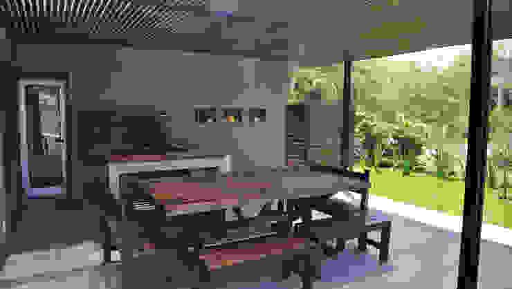 CASA M - Estudio Fernandez+Mego: Jardines de invierno de estilo  por Estudio Fernández+Mego