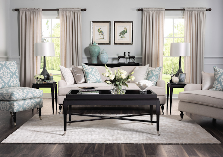SS16 Style Guide - Coastal Elegance - Flatlay Country style living room by LuxDeco Country
