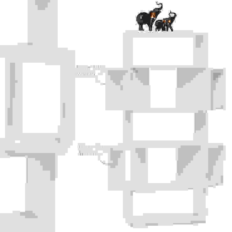 K105 Mobilya Pazarlama Danışmanlık San.İç ve Dış Tic.LTD.ŞTİ. – Box Kitaplık Beyaz: modern tarz , Modern Sunta