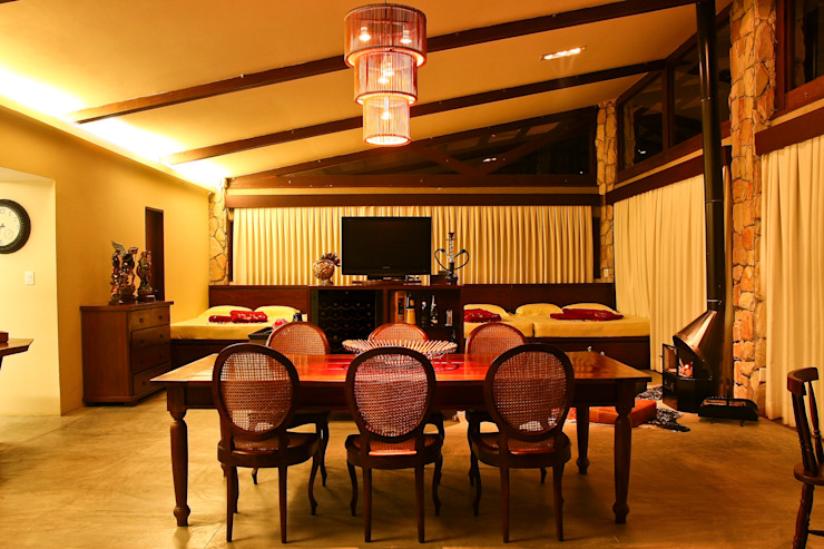 Duo Arquitetura Living room Wood Beige