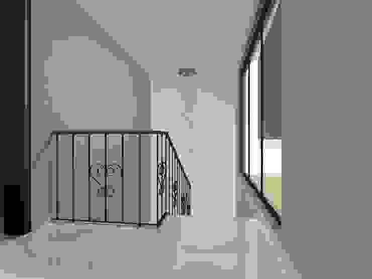 Hall y cubo de escaleras Pasillos, vestíbulos y escaleras modernos de Ingenieros y Arquitectos Continentes Moderno