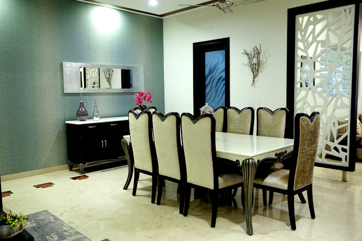Dining area: modern  by renu soni interior design,Modern