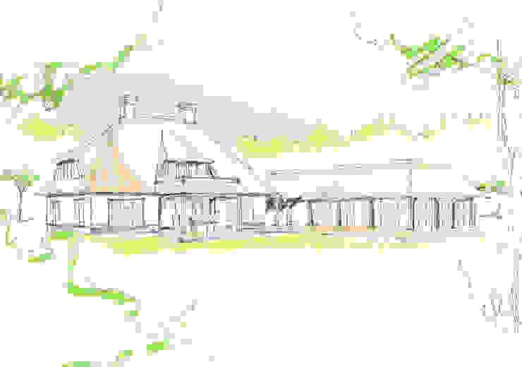 Vrijstaande witte rietgedekte villa te Dedemsvaart 01 Architecten van 01 Architecten Landelijk