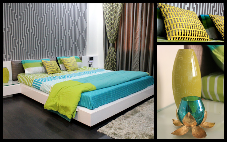Mr. Sharma House Modern style bedroom by homify Modern