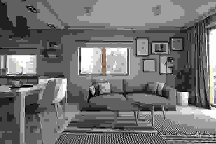 MGN Pracownia Architektoniczna Scandinavian style living room